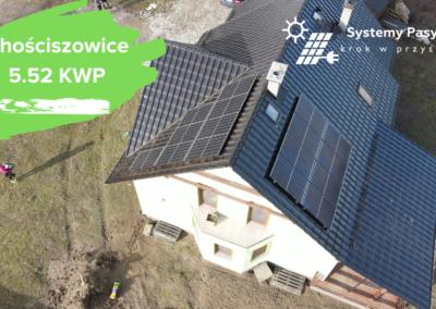 Chościszowice- instalacja fotowoltaiczna o mocy 5.52 KWP