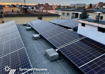 Wrocław- fotowoltaika na dachu płaskim 5.52 KWP