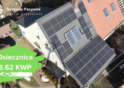 Bolesławiec (Osiecznica)- instalacja fotowoltaiczna o mocy 8.62 KWP