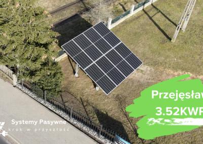 Przejęsław- instalacja fotowoltaiczna na gruncie 3.52 KWP