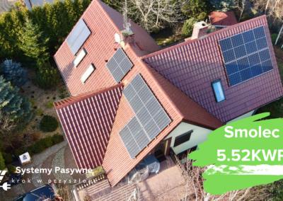 Smolec- instalacja fotowoltaiczna o mocy 5.52 KWP